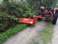 Mower Verge Flail offset