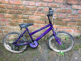 "Raleigh Girls bicycle 18"" wheels 5 gears [6-8yrs]"