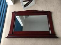 Large mahogany mirror