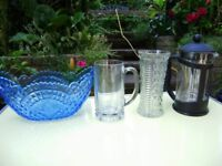 Teapot, soup bowl x6, mugs, decanter x2, plates, other variety of crockery, different prices
