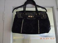 ladies black demante handbag