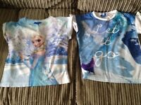 Girls frozen clothes bundle . Great condition