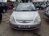 honda civic parts from a 2002/3 1.6 petrol car 5 door silver