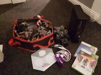 xbox 360 +games + controllers + disney infinity and character bundle
