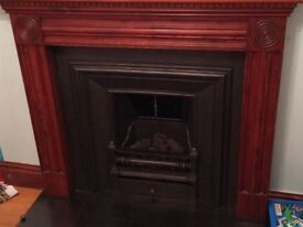 Cast Iron Fire and Timber Surround