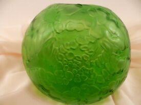 Loetz Iridescent Green Glass Vase - Stunning Vase/Colour