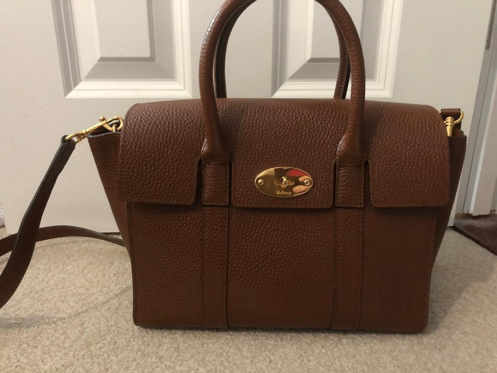 495592281e92 Mulberry Small Bayswater - Natural Oak Grain
