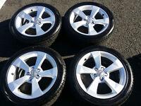 "Set of Genuine Audi A1 SE Sport 16"" Alloy Wheels / new Hankook 215 45 16 tyres"