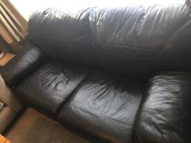 REDUCED Sofa Bed - Real Leather