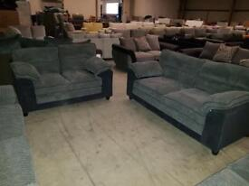 Brand new grey chorded 3 +2 sofa suite