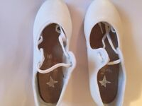Starlite tap shoes in white. Size 10