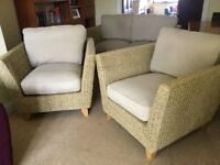 High quality, eye catching 3 piece rattan conservatory set for sale and collection.
