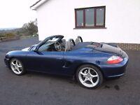Porsche Boxster 2.7 Lapis Blue, FSH