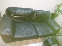 Real leather 3 and 2 seater