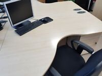 Morris Furniture Wave Desks, 1600mmx1400mm in Maple, perfect condition