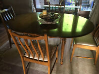REDUCED TODAY!! Dining room table, 4 chairs and sideboard. Excellent condition owned from new.
