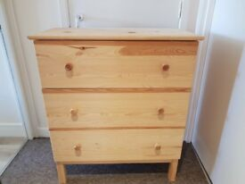 Large, Sturdy Chest of Drawers (3 Drawers)