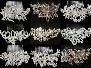 BRIDAL-WEDDING-HAIR-COMBS-DIAMANTE-CRYSTAL-PEARL-COMB-CLIP-SLIDE-TIARA