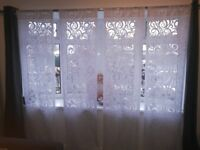 Top Quality, Slot Top, Voile Panel, Rod Pocket, Net Curtain, White