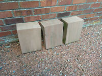 Locharbriggs Red sandstone L-shaped quoins, 3 available, £25 each