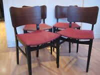 Lovely Set of 4 Retro Mid-Century Kitchen / Dining Chairs - Probably G-Plan - Very good condition