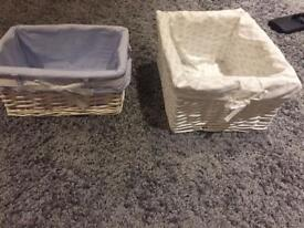 Two small baskets