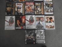 DVD war collection , John Wayne , etc 15 DVD's