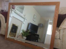 "MODEC Fine Arts - Solid Oak Framed Mirror - 53""x41"""