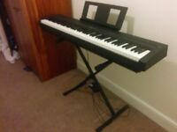 Yamaha P-45. Excellent condition. Weighted keys. Ideal for intermediate/beginners. Includes stand.