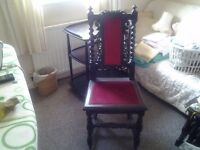 Very old, very ornate chair.