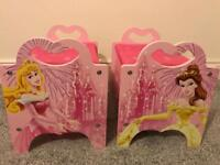 Set of two small Disney princess storage chests