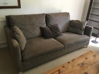 3-seated sofa brown