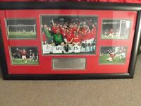 manchester united framed display photos