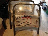 4 x folding bike/bicycle wall racks