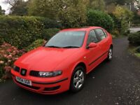Seat Leon 1.6 SX 5d hatchback, 2004 good condition runs well, MOT 3/2018, good tyres Near FSH