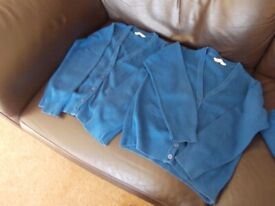 Two M&S school cardigans 8 - 9 years very good condition