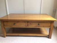 Coffee table from Multiyork in solid oak. Beautiful piece.