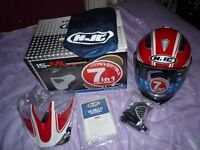 Motorcycle Helmet -HJC IS-Multi 7 IN 1 -Tociti MC-1 (Size; Large).