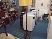 tall dark wood vintage lamp stand.