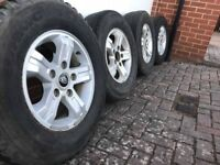 SET OF 4 ALLOY WHEELS WITH TYRES KIA SORENTO 5X139,7 16 INCH ET45