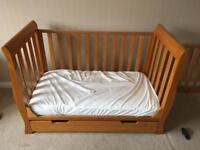 Narrow sleigh Cot bed