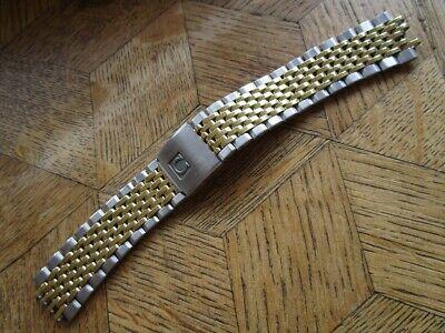 Vintage Steel Gold OMEGA 1444 Bracelet 18 mm. For parts.