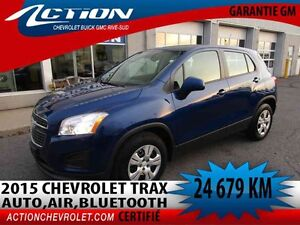 2015 CHEVROLET TRAX FWD LS CROSSOVER AUTO,AIR,BLUETOOTH