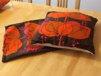 Original Vintage 1970's Cushion Cover Mid Century (Pair)