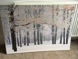 Next winter scene canvas