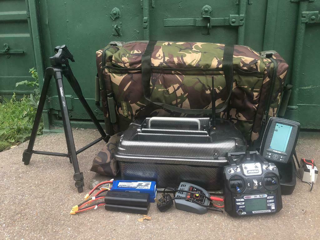 Carp Madness Phantom Bait Boat Tolson Echo Sounder Extras In Dartford Kent Gumtree