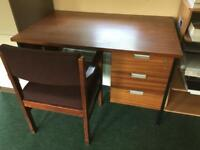 3 drawer desk with chair