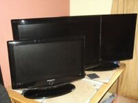 Samsung 32'' X 2 + 26'' X 1 flat screen TV's [Spare or Repair] £1.00.