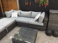Maze rattan rio corner sofa set with cushion storage box