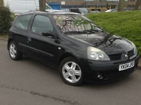 2004 RENAULT CLIO 1.2 BLACK **VERY LOW MILES ONLY 55000**